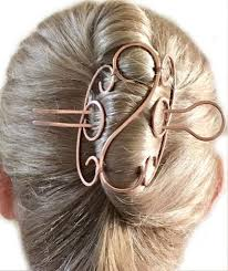 bun holder tri fold hair bun holder cage copper cobra luxe