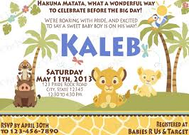 baby lion king baby shower king simba baby shower invitations