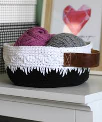 Armchair Caddy Organizer 18 Crochet Free Patterns For Storage And Organization