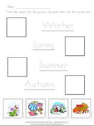 the seasons cut and paste free esl worksheet