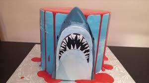 jaws shark halloween drip cake tutorial youtube