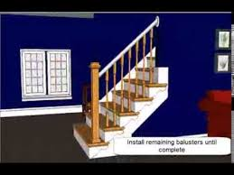 Replace Banister With Half Wall Open Sided Staircase Remodel With Adjustable Wooden Balusters