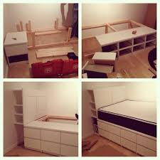 How To Build Platform Bed Frame With Drawers by The 25 Best Dresser Bed Ideas On Pinterest Elevated Desk Kids