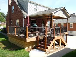 Pictures Of Roofs Over Decks by Ipe Deck W Roof U0026 Aluminum Railing Green Township Ohio