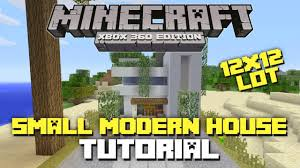 minecraft xbox 360 small modern house tutorial 12x12 lot house