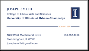 Job Title On Business Card Business Cards Identity Standards Illinois