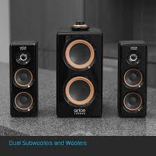 big home theater subwoofer amazon com arion legacy ac powered 2 1 speaker system with dual
