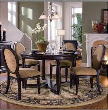 cool colonial dining room with four piece chairs also round