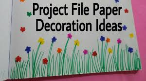 project file pages decoration ideas attractive projects