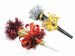 nye noisemakers bowdabra new year s noise makers garlands hair bow and craft