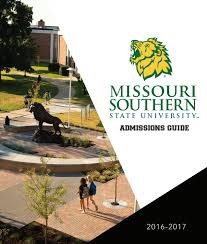 missouri southern admissions guide 2016 2017 by missouri southern