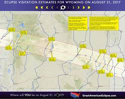 Wyoming Road Map Wyoming Eclipse U2014 Total Solar Eclipse Of Aug 21 2017