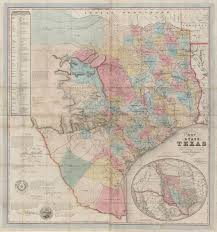 Map Of The State Of Texas J De Cordova U0027s Map Of The State Of Texas U2026 U2013 Save Texas History
