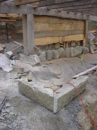 about post and beams and stone foundations preventing rot