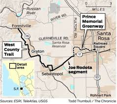 Map Of Sonoma County A Perfect Day Of Cycling In Sonoma County Sfgate