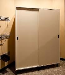 Sliding Door Cabinets Garage Cabinet Storage 4 Adjustable Shelves 2 Doors Kitchen