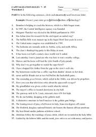 capitalization rules worksheets free worksheets library download