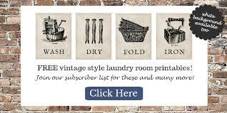 Vintage Laundry Room - laundry room makeover progress plus free printables postcards