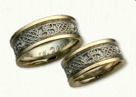 rings with initials celtic heart knot wedding rings by designet best prices quality