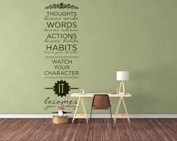 typography wall decals home decor watch your character it typography wall decals home decor watch your character it becomes your destiny thoughts words actions habits