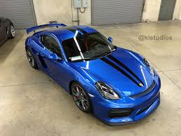 cayman porsche gt4 ki studios dual top stripes for porsche 981 cayman gt4