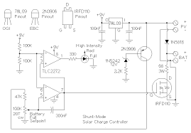 world technical solar charger controller circuit diagram