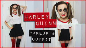 harley quinn easy makeup and diy costume comic