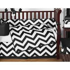 Black And White Crib Bedding Sets Sweet Jojo Designs Black And White Chevron Collection 9pc Crib