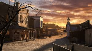 painting old west saloon town of the old west that western