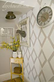 how to cut angles in front corners of hair front hall wall cut out a diamond shaped stencil from posterboard
