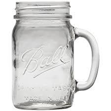 ball mason amazon com ball regular mouth drinking mason jar 16 oz 6 pack