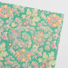 floral wrapping paper rolls gold paisley handmade wrapping paper roll world market