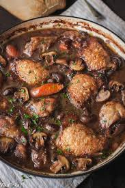warm and comforting chicken braised in red wine the best of french