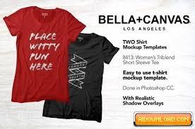 tshirt mockup u2013 bella canvas 8413 free download free graphic