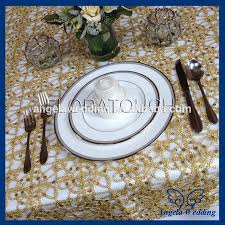 cheap lace overlays tables tl002a cheap sale elegant polyester ivory wedding embroidered