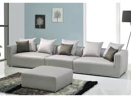 canapé pouf modulable tissu trivia gris canapé 3 places fauteuil pouf