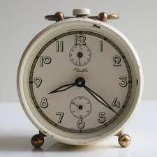 Herman Miller Clock Kienzle Clock Wind Up Alarm Clock Metal Vintage Made In Germany