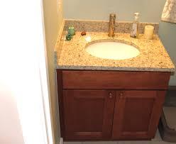 shaker bathroom vanity in maple cognac doors granite vanity