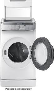 Samsung Pedestals For Washer And Dryer White Samsung 7 5 Cu Ft Capacity Flexdry Electric Dryer White