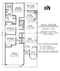one story garage apartment floor plans modern house plans one story plan with garage narrow lot single