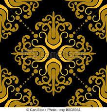 ornamental pattern with damask motifs ornamental vintage vector