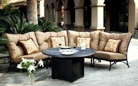 Solid Cast Aluminum Patio Furniture by Patio Furniture Deep Seating Sectional Cast Aluminum Set Crescent