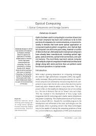 optical computing pdf download available