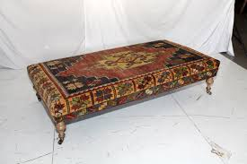 furniture suede ottoman coffee table fabric coffee table with
