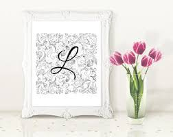 Letter L Home Decor by L Word Etsy