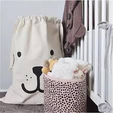 cute laundry bags canvas cute bear face letters toy organizer clothes fold washing