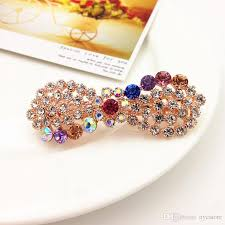 hair barrettes women hair barrettes jewelry zinc alloy rhinestone butterfly