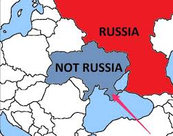 Map Of Ukraine And Crimea Pro Russia Separatist Regions Named Crimea As Part Of Ukraine