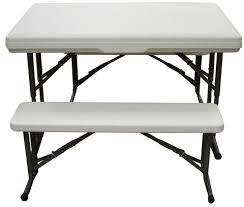 Outdoor Table And Bench Seats Stansport Camp Table With Folding Bench Seats Walmart Com