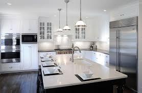 white cabinets dark countertop dark island light countertop dark